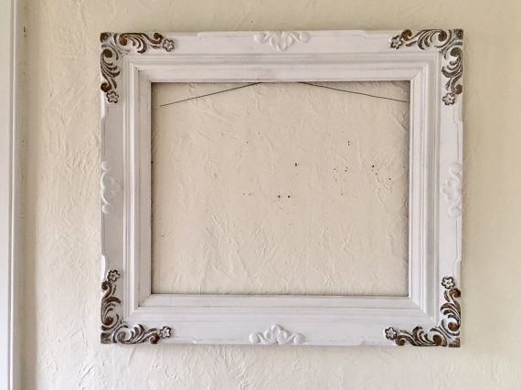 Large Open wood frame, 32 x 28 vintage, white, wedding, photo prop ...