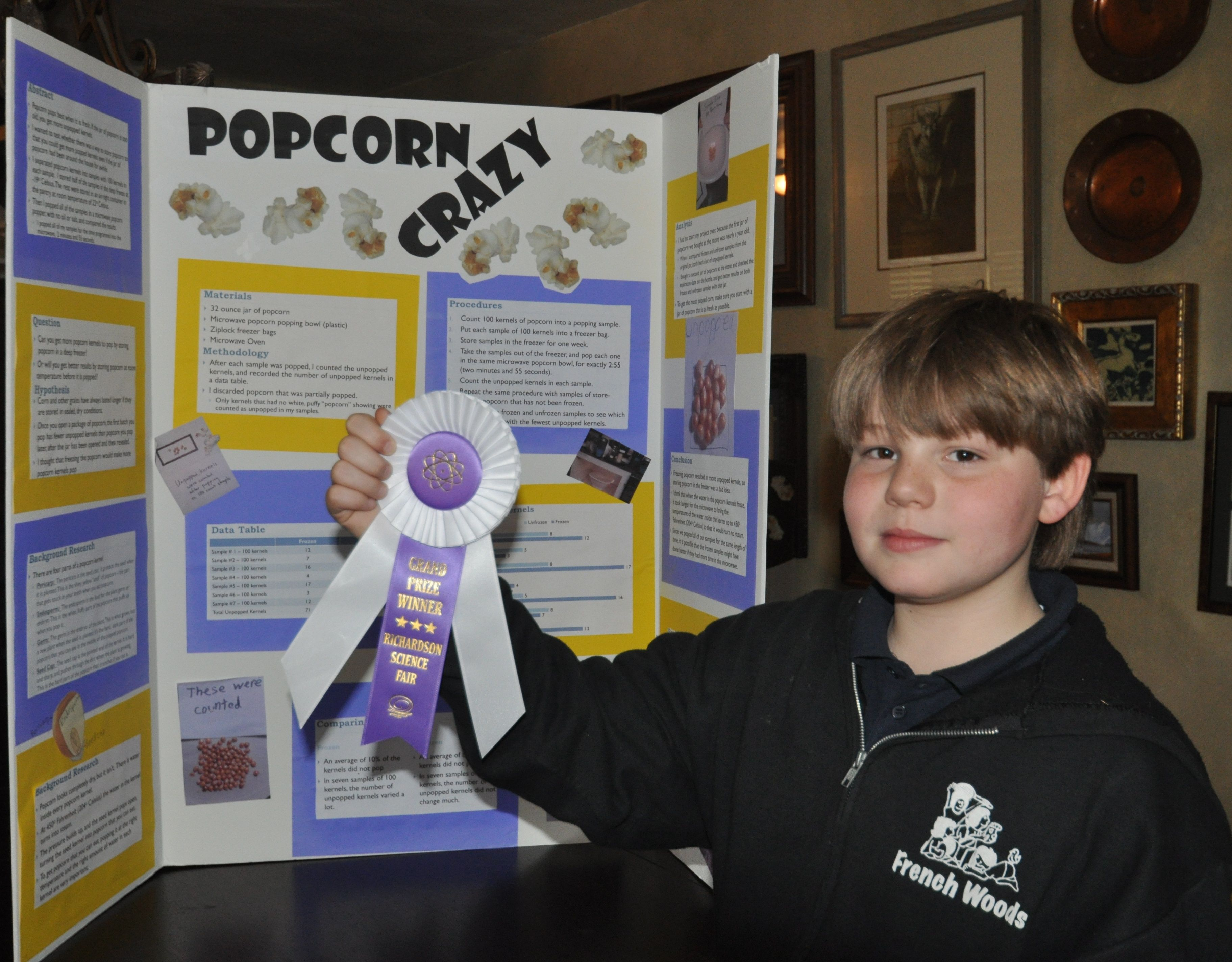 winning science fair projects | the display that helped kameron win