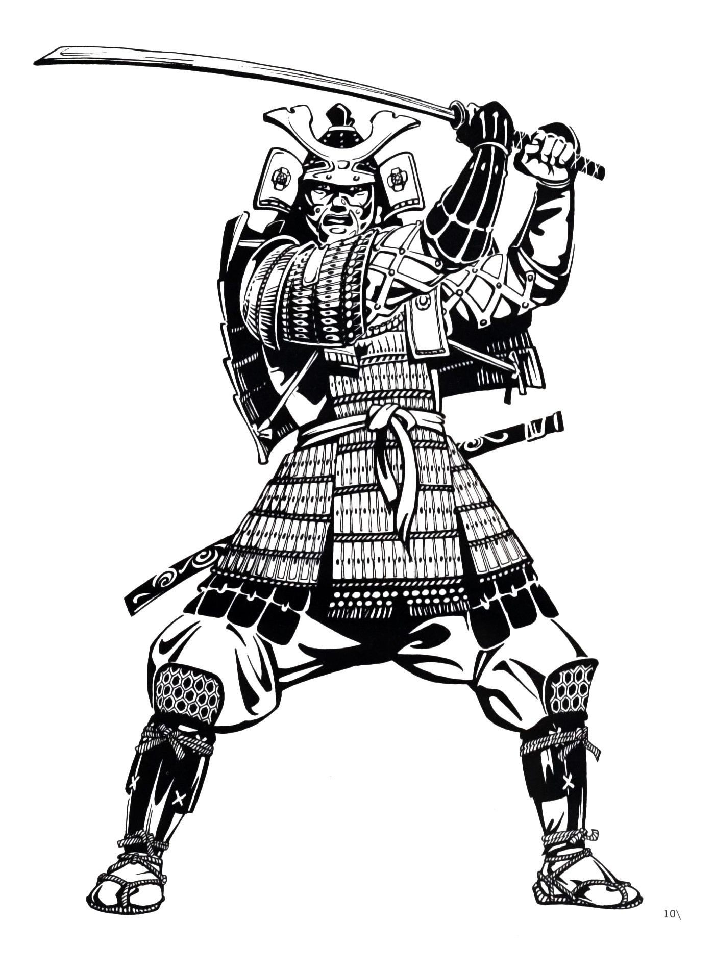 It's just a photo of Exceptional Samurai Warrior Drawing