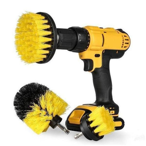 Power Scrubber Brush (3 Piece Set) is part of Cleaning hacks -  Features say bye to manual hand cleaning Attach them to a cordless drill and they become power scrubber brushes, reduce your cleaning time and make your cleaning fun and easy, say bye to manual hand cleaning   To save time These brushes should cut your cleaning and scrubbing time in half or more compared to the rig