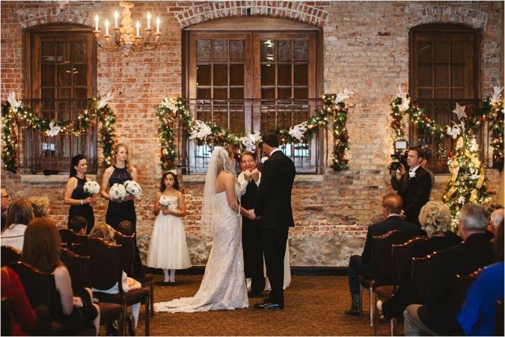 Winter Wedding~ Herrington Inn & Spa Indoor Ceremony http://mlindsayphotography.com