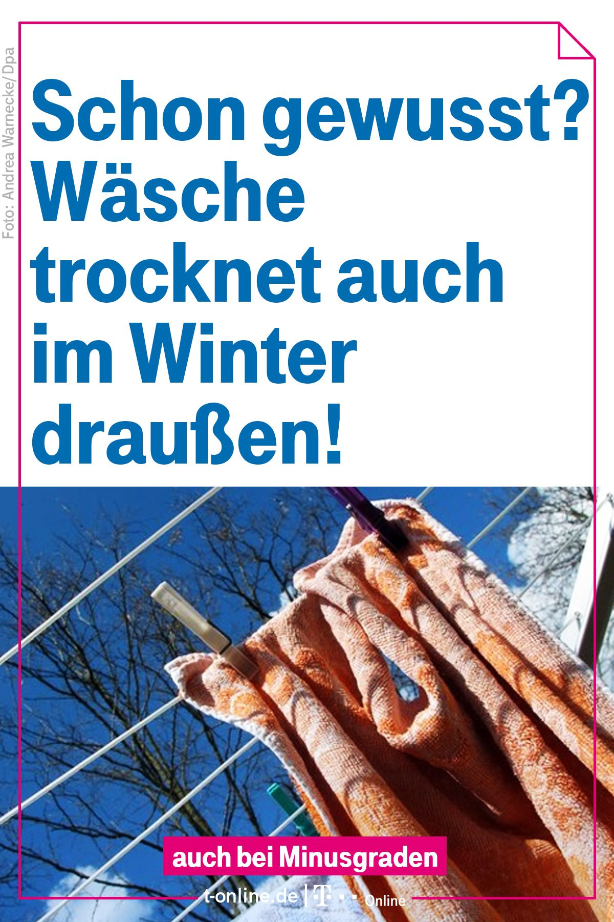 Haushaltstipp: Frost trocknet feuchte Wäsche   Tipps für den ...