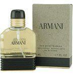 ARMANI By Giorgio Armani For Men EAU DE TOILETTE .17 OZ MINI by Armani. $12.99. EDT .17 OZ MINI. Launched by the design house of Giorgio Armani in 1984, ARMANI by Giorgio Armani is classified as a flowery fragrance.  This masculine scent posesses a blend of: citrusy top notes of lemons, oranges and bergamot combined with middle and lower tones of clove, coriander, nutmeg, and aromatic  It is recommended for romantic wear.