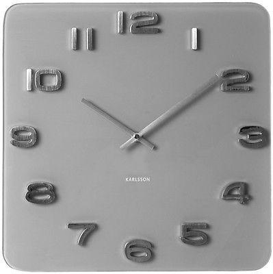 Karlsson Uhr karlsson wanduhr vintage glas grau design uhr glasuhr retro
