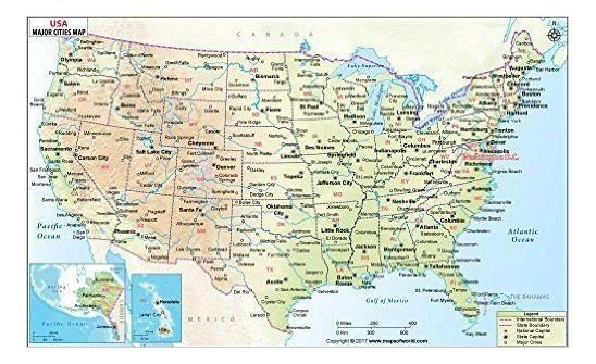 Apple watch deal at amazon: Mow Amz On Twitter Usa Travel Map Us Map With Cities Usa Map