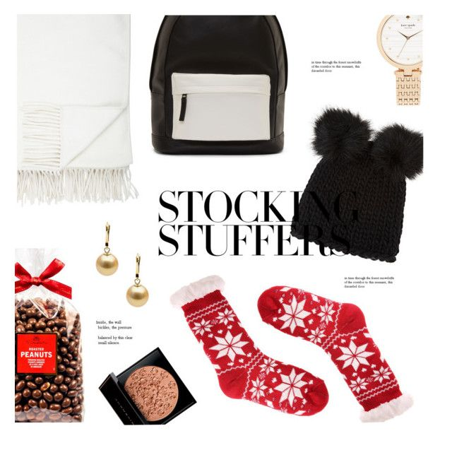 """#PolyPresents: Stocking Stuffers"" by okihyunie ❤ liked on Polyvore featuring Barneys New York, Kate Spade, PB 0110, Givenchy, Christmas, presents, contestentry and polyPresents"