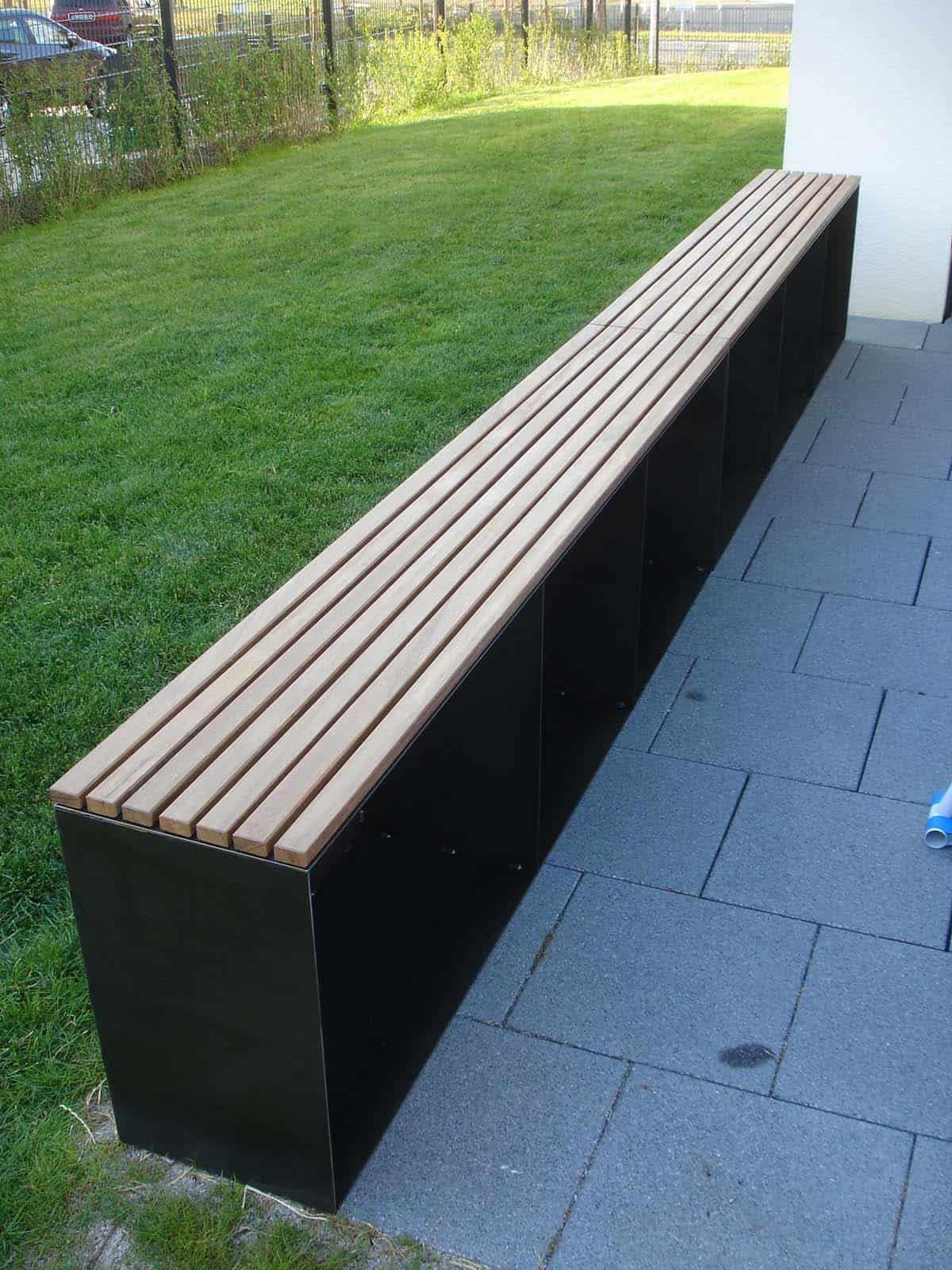 Gartenbank Aus Holz Und Metall Online Kaufen Stahlzart Gartenbank Holz Kamin Holz Aufbewahrung Sitzbank Garten