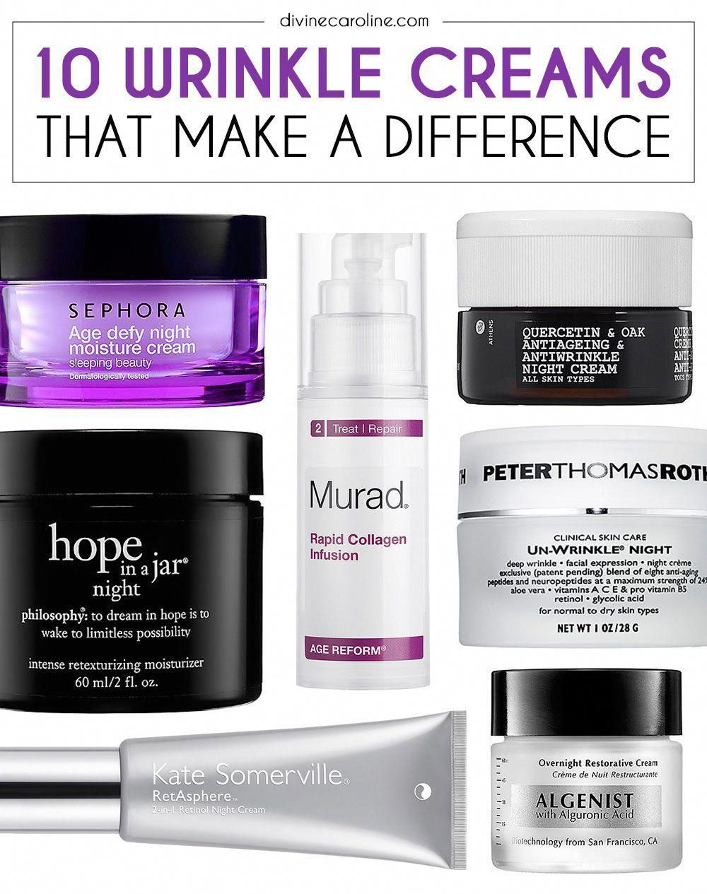 10 Wrinkle Cream Products That Make A Difference More Wrinkle Cream Beauty Care Beauty Routines