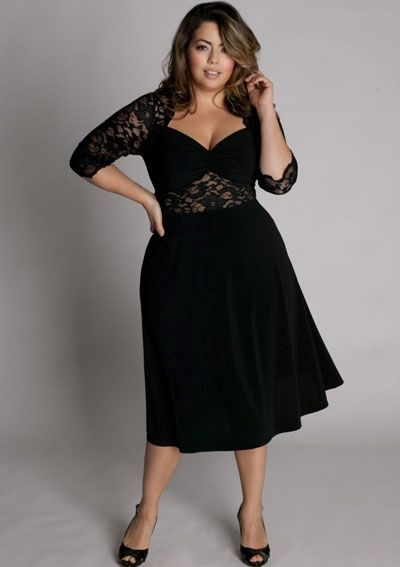 dd189f3f1f7 cutethickgirls.com plus size black dresses (01)  cuteplus