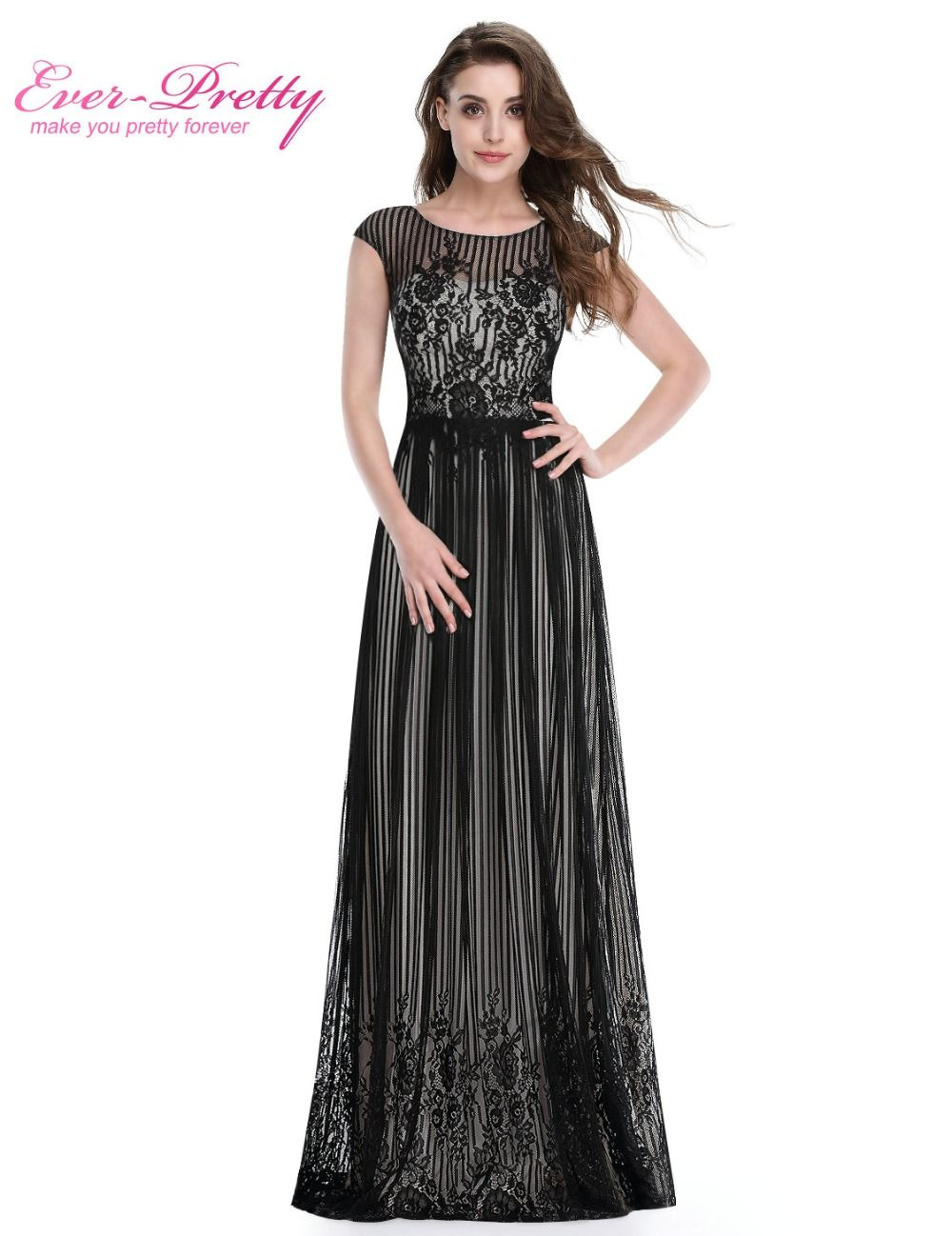 2473b344a38 Long Formal Evening Dress Ever Pretty HE08828 Plus Size Evening Dress Black  Sexy Evening Dresses Ladies Evening Dress