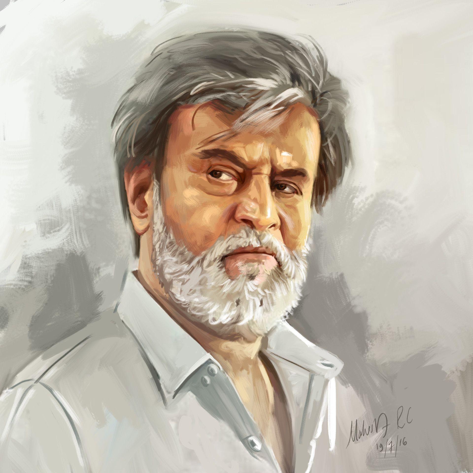 Rajanikanth Portrait, Mahesh R C