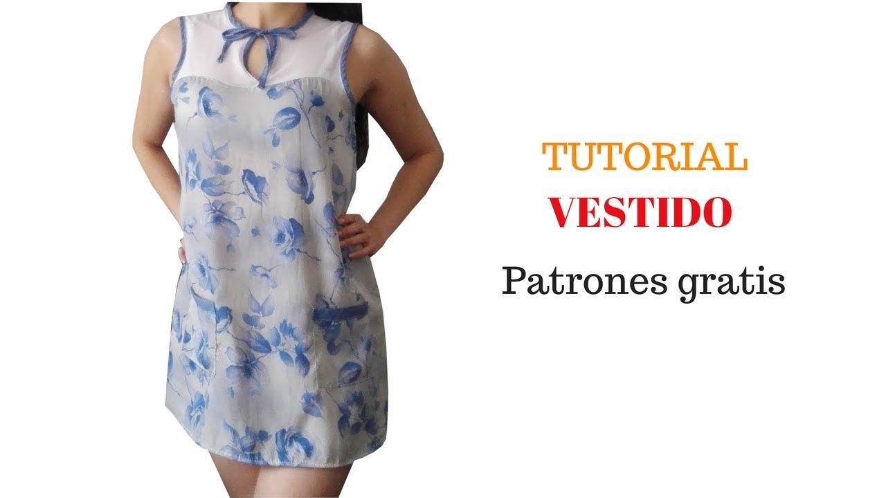 Vestido suelto línea A de mujer corte y confección | costura ...