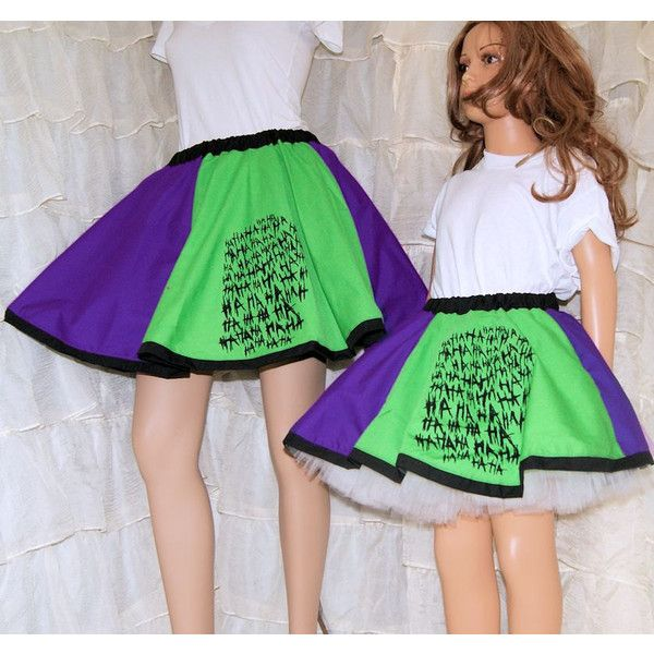 Joker Purple Green Ha Ha Ha Long Circle Skirt Adult All Sizes... ($49) ❤ liked on Polyvore featuring skirts, grey, women's clothing, long purple skirt, skater skirts, cotton skirts, green skirt and long skater skirt