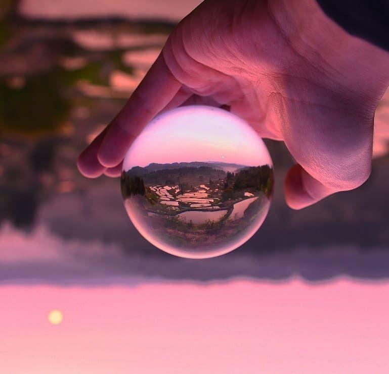 Kakure_mon on instagram - #aesthetic #art #crystal #curators #earth #farm #field #glass #landscape #lavender #magenta #nature #on #photography #pink #reflection #tumblr