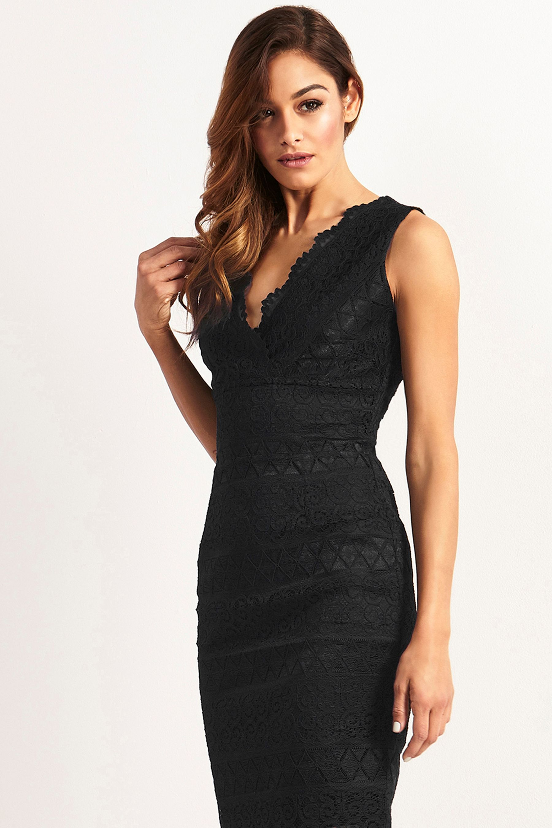 a20fcad5f121 Womens Lipsy Petite Lace Bodycon Dress - Black in 2019 | Products ...