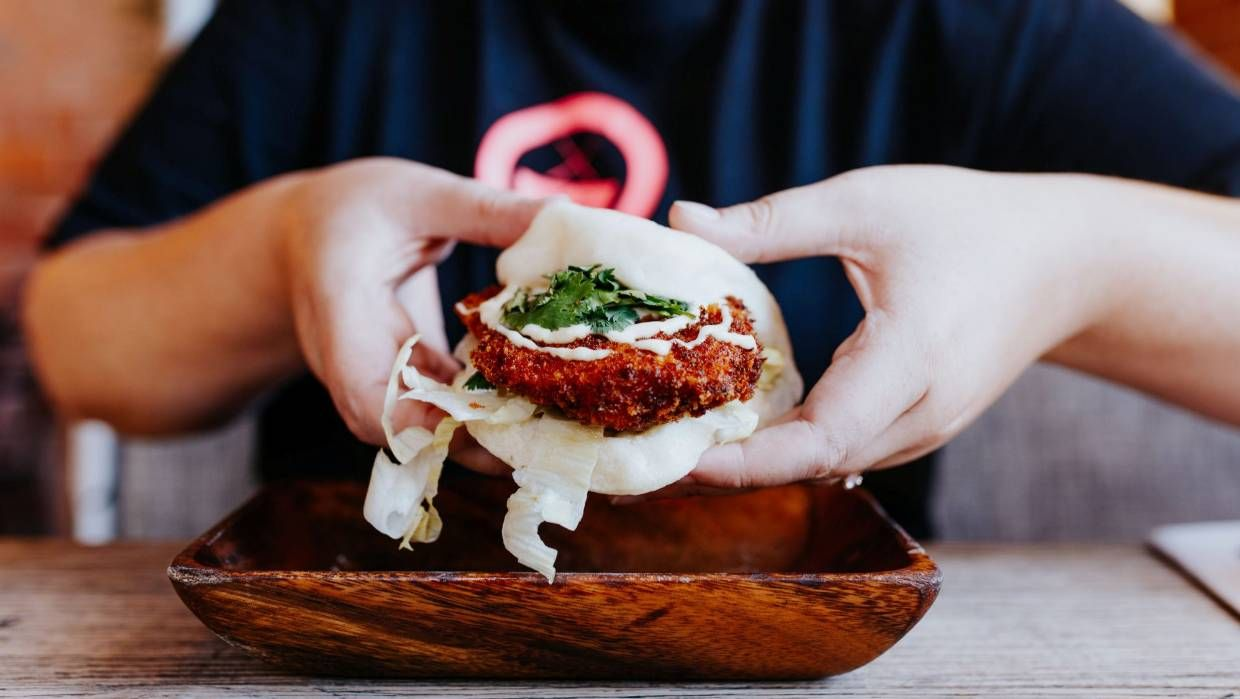 Neat Places Top 5 Bao Buns In Christchurch Crispy Pork Belly Bao Buns Buttermilk Fried Chicken