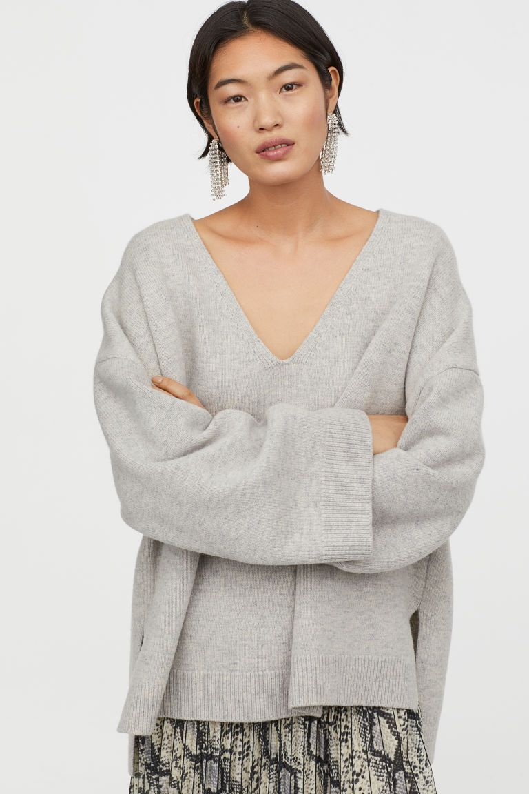 Oversized Wollen Trui.Oversized Wollen Trui H M Wool Sweaters Sweaters En Grey Sweater