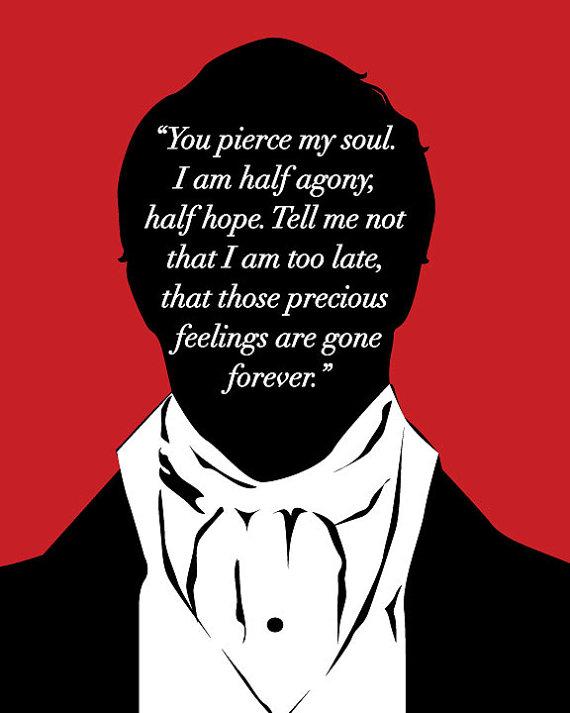 Jane Austen Persuasion, Captain Wentworth Proposal Print, Anne Elliot Persuasion, Jane Austen Quote, Jane Austen Art Print