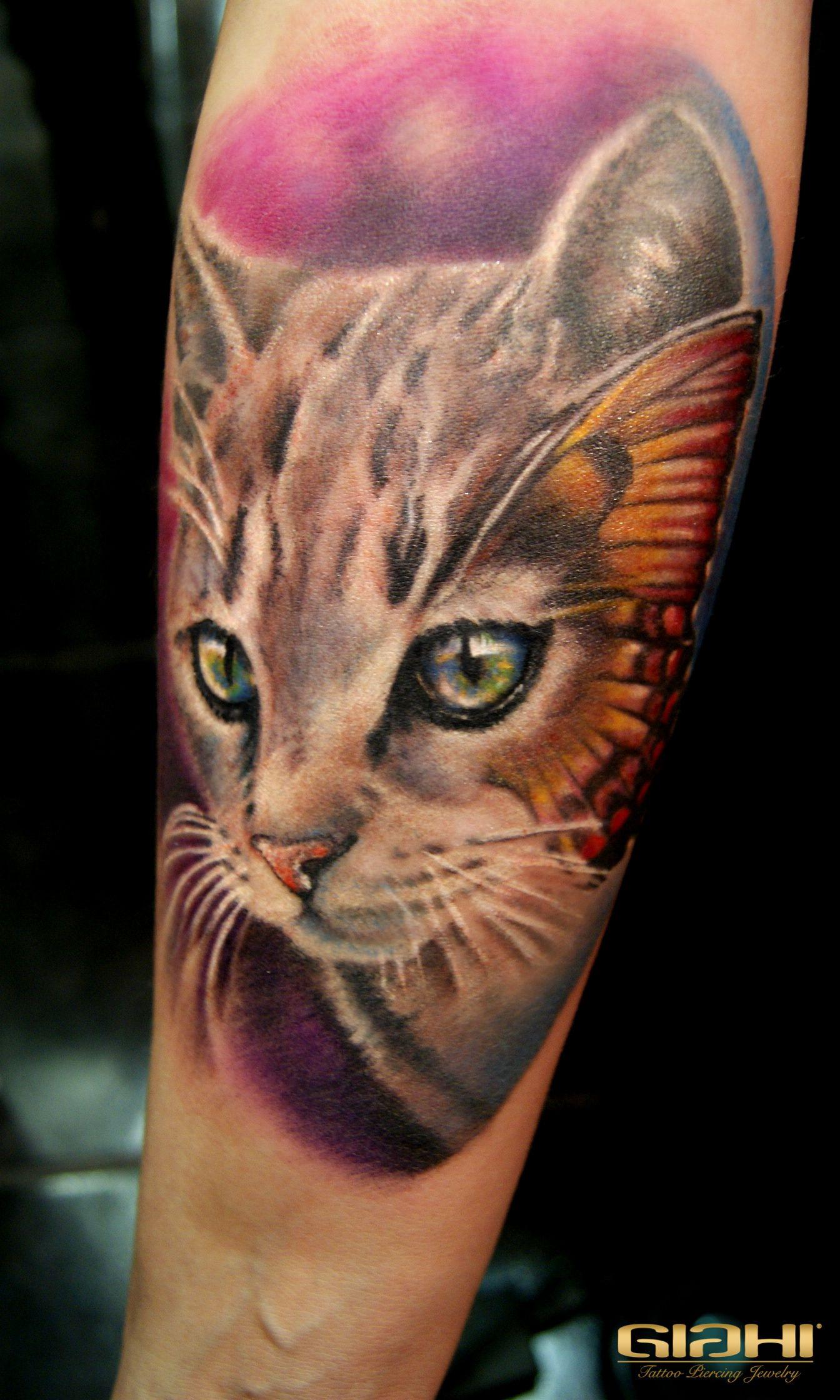 Tattoo background shading ideas color cat tattoo  tats  pinterest  tatting and tattoo
