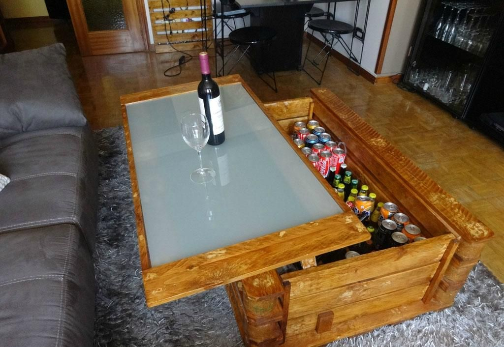 cmo hacer una mesa elevable con palets - Hacer Mesa Con Palet