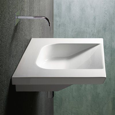 Ws Bath Collections Community 70 With Wall Mount Bathroom Sink