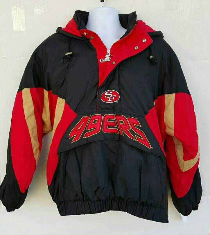 Vintage!!Starter Oficial Product For NFL Team San Francisco 49ERS American Football Classic Team Nfl Collection 49Ers Sweatshirt Clothing L 1rCtLf2Y