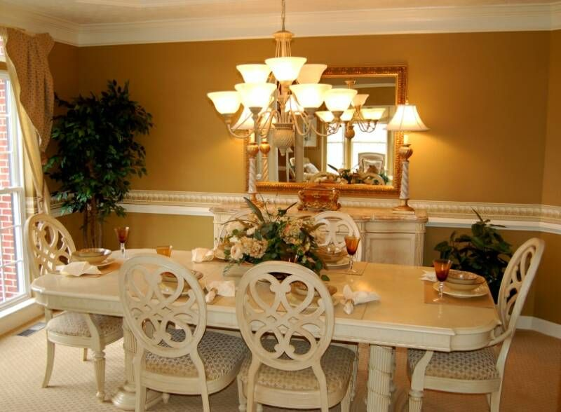 Gold Dining Room Decor: Gold Dining Room