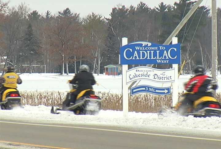 Snowmobiling In Wexford County Sights Sounds Of Northern - Cadillac wexford