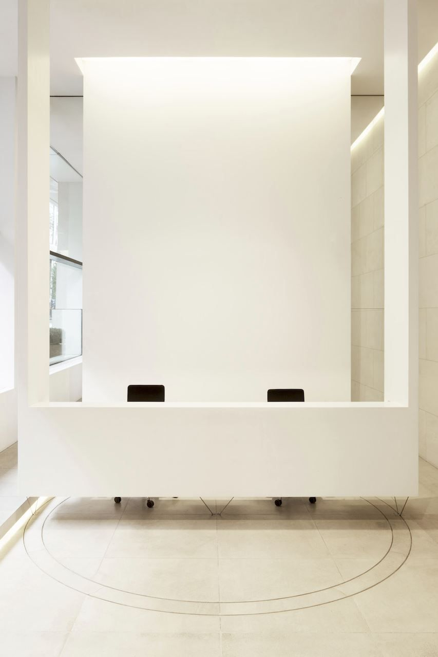 office reception areas. Front Desk Reception Area - Simple, Clean And Modern Could Use Large Wall Art Office Areas