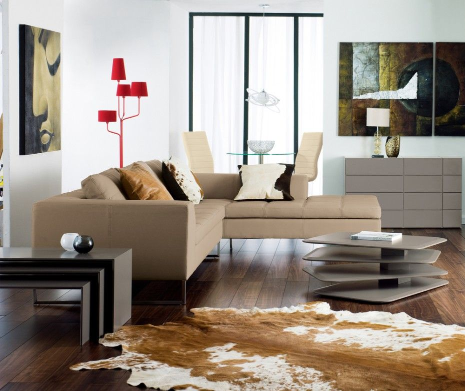 Living Room Pleasing Minimalist Design Idea With Beige Couches