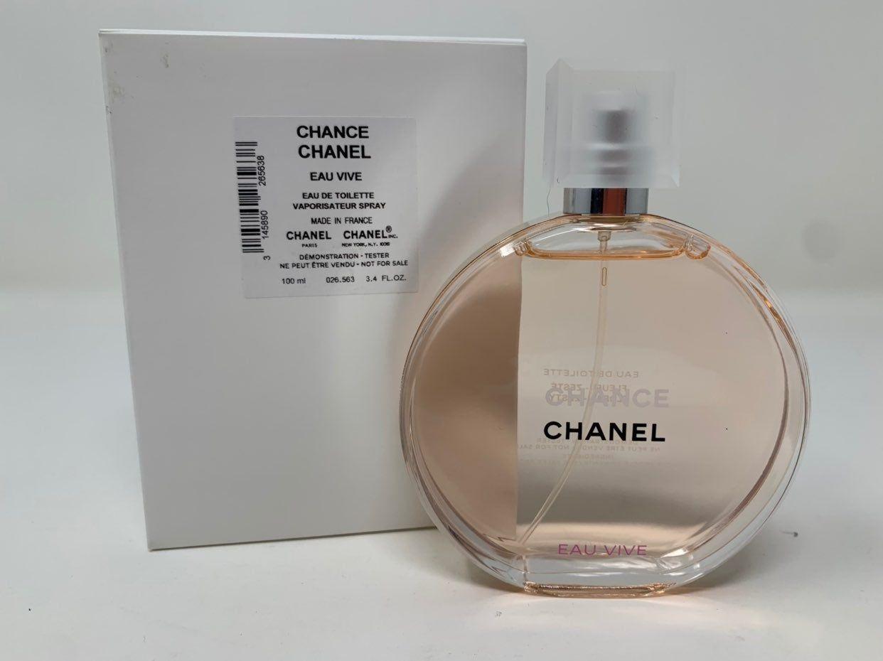 Chanel Chance Eau Vive Edt Toilette 3 4 Oz T3ster Bottle Brand New In Box Chanel Perfume Bottles Bottle