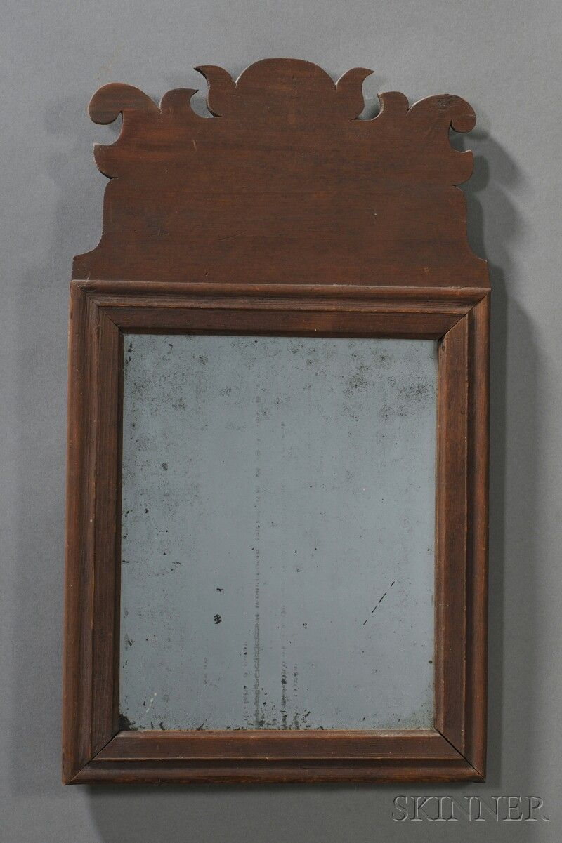 18thc Queen Anne Looking Glass In Old Surface Www Skinnerinc Com