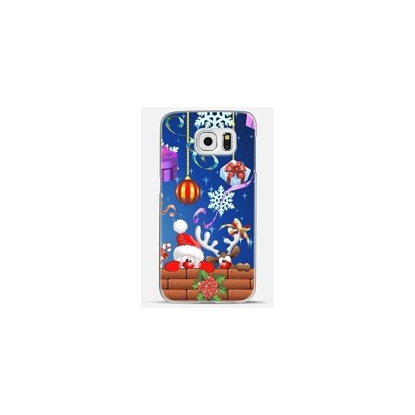 Santa Claus and Reindeer Fun Cartoons iPhone 6s ❤ liked on Polyvore featuring accessories, tech accessories and comic book