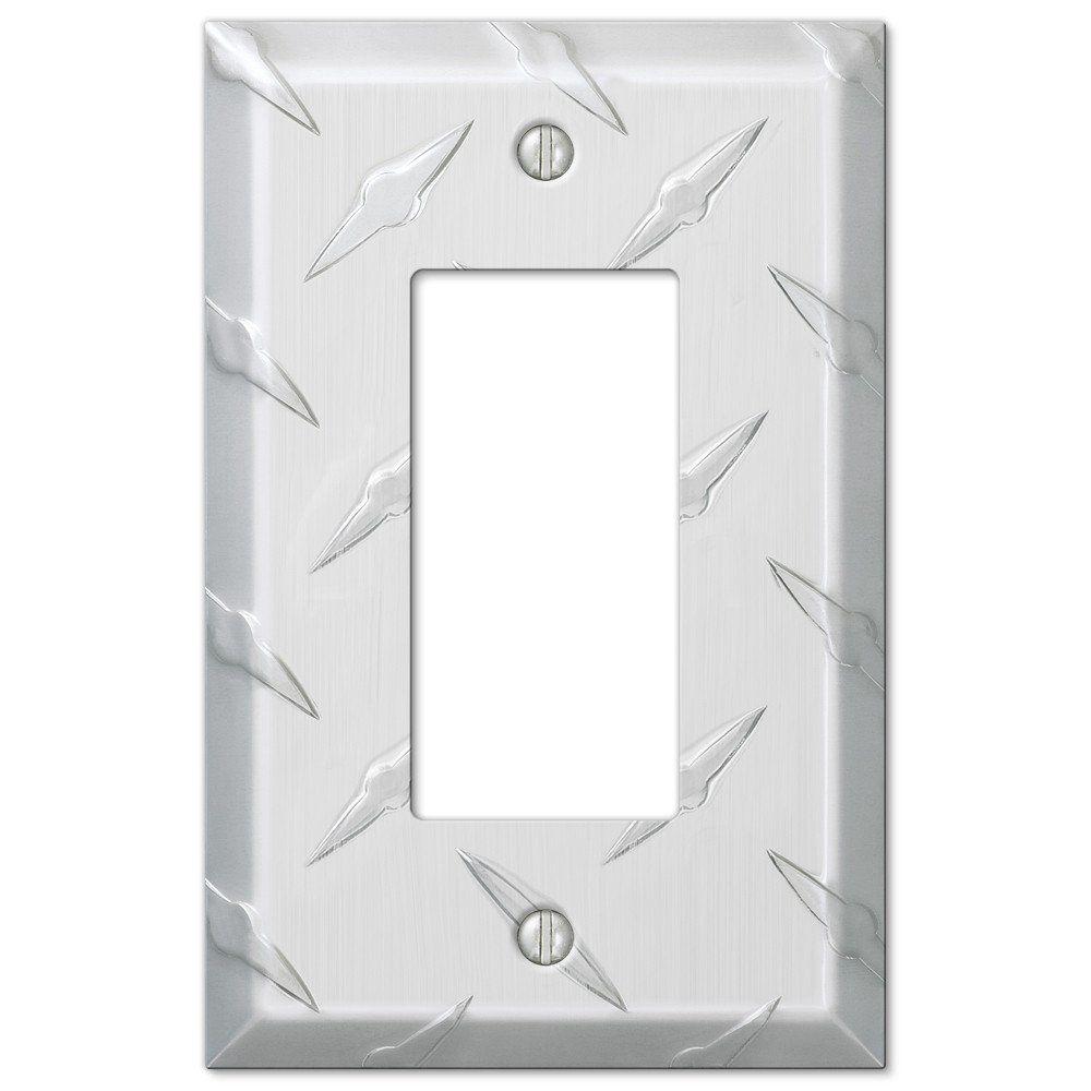 Diamond Plate Aluminum 1 Rocker Wallplate Rockers Decorative