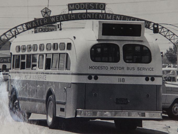 City Bus Modesto Modesto Modesto California Ca History