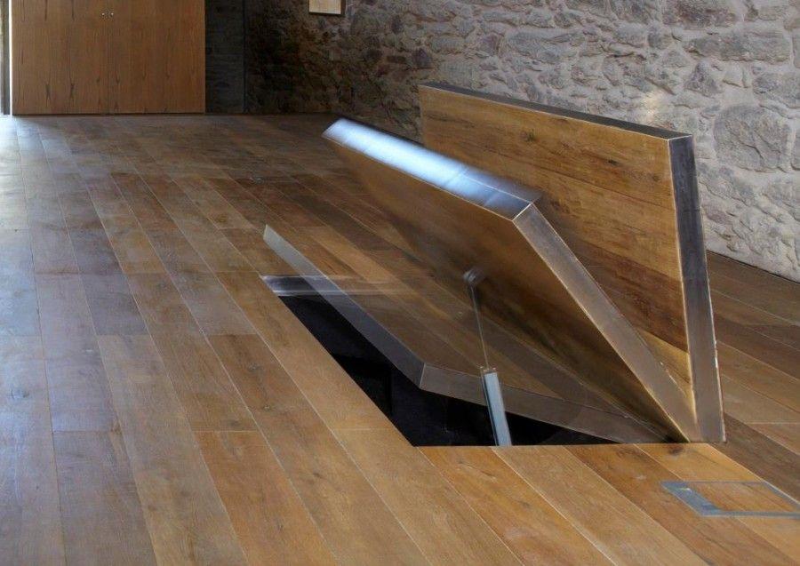 Trappe blind e evid e trappe de cave escadas interiores escadas et passagens secretas - Porte de cave securisee ...