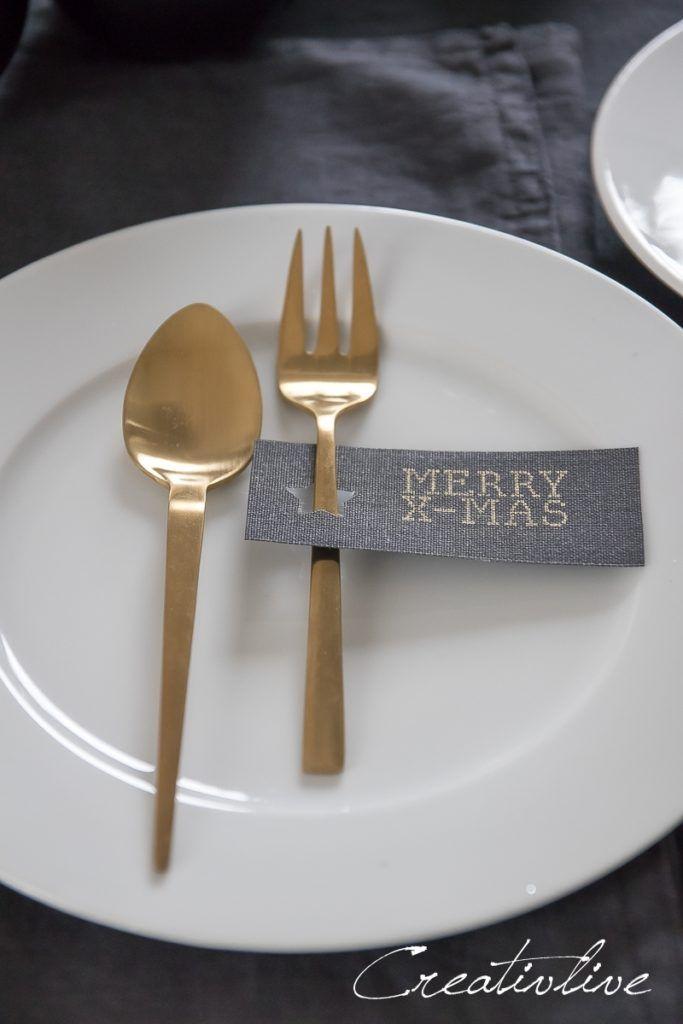 Weihnachtliche Tischdeko mit Geschirr von Erwin Müller - CreativLIVE #weihnachtlichetischdekoration