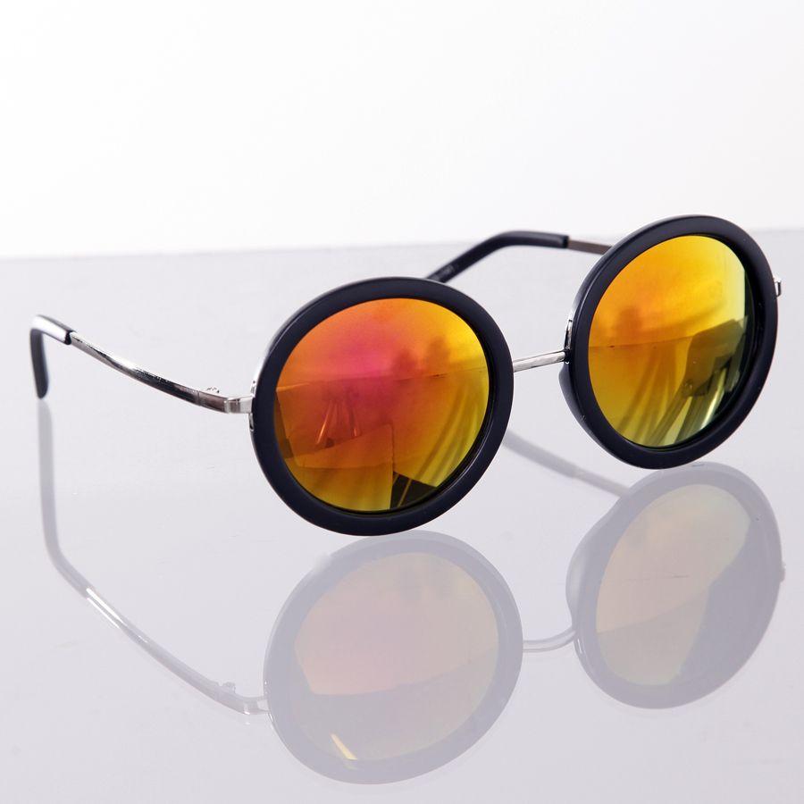 Óculos redondo espelhado laranja   óculos redondo 8759786a24