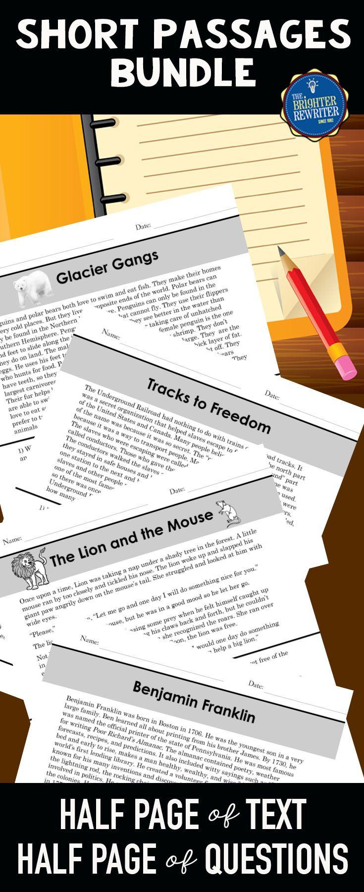 Short Nonfiction Reading Comprehension Passages Bundle Reading Comprehension Passages Comprehension Passage Reading Comprehension [ 1800 x 735 Pixel ]