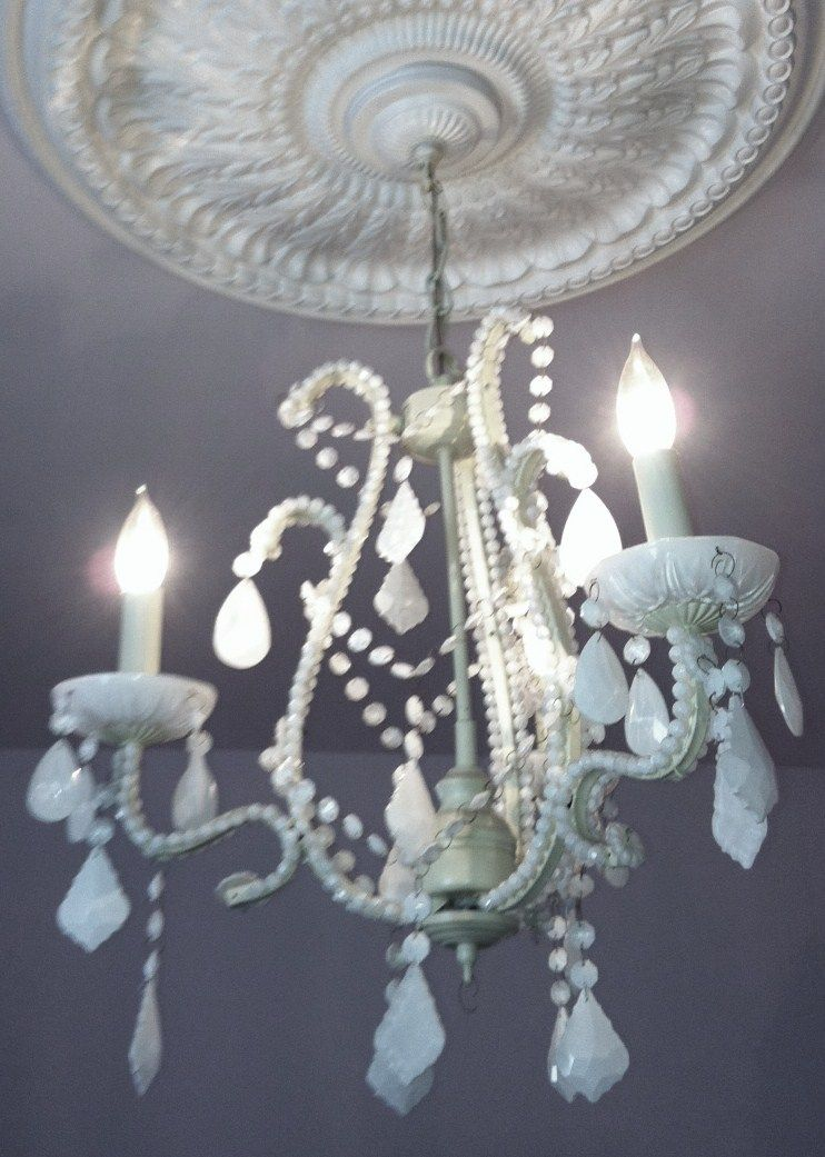 Milk glass chandelier casa nueva pinterest milk glass chandelier aloadofball Images