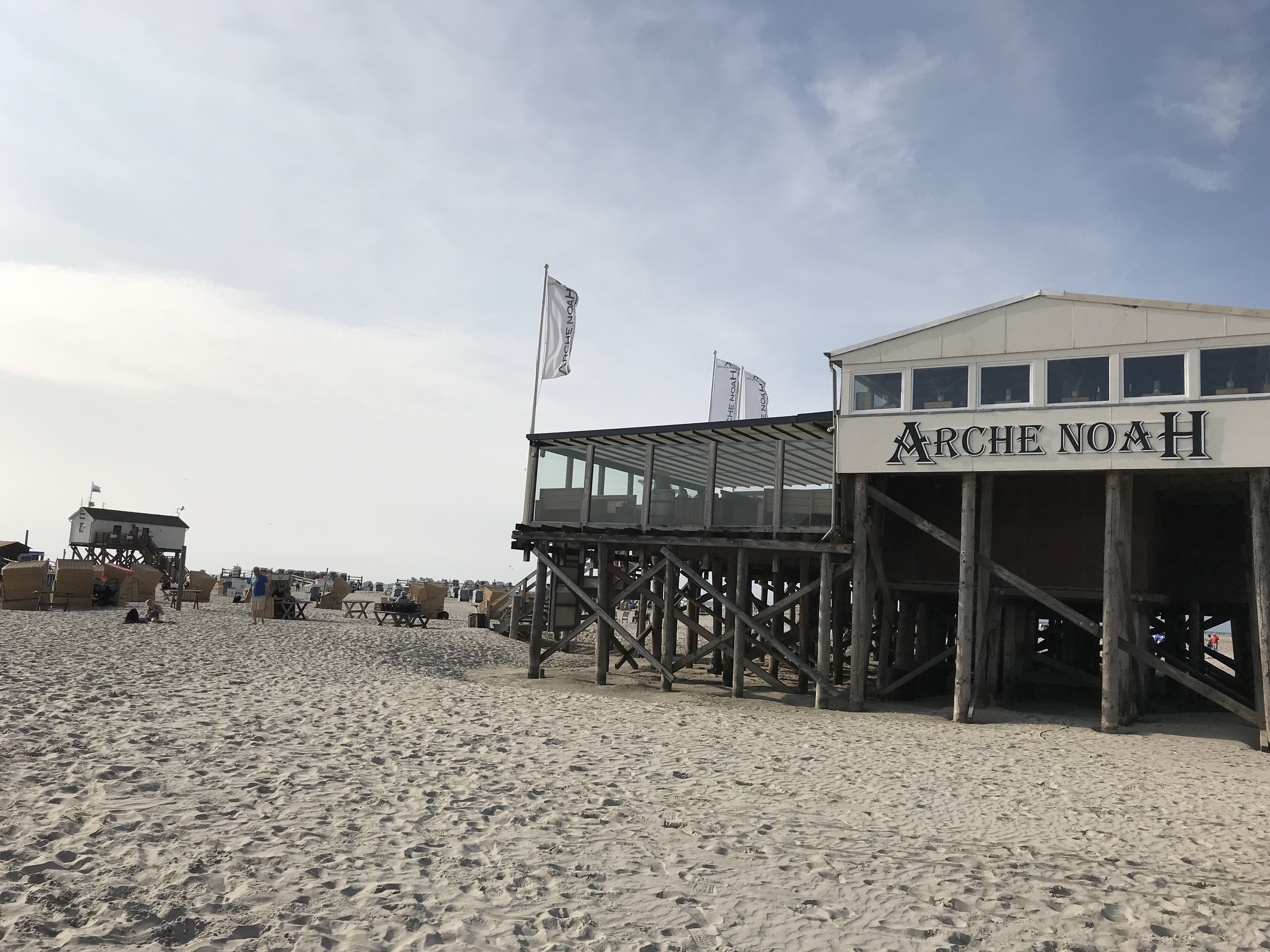 I Had A Fabulous Beach Day At St Peter Ording Beach Followed By A Glass Of White Wine At Arche Noah Beach Bar With Stunning S Beach Bars Beach Day