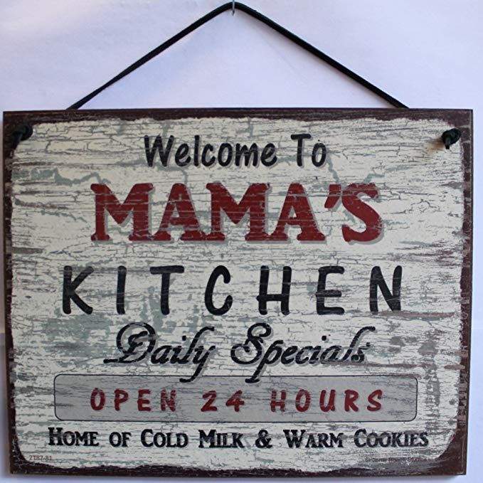 """Amazon.com: Vintage Style Sign Saying, """"Welcome To MAMA'S"""