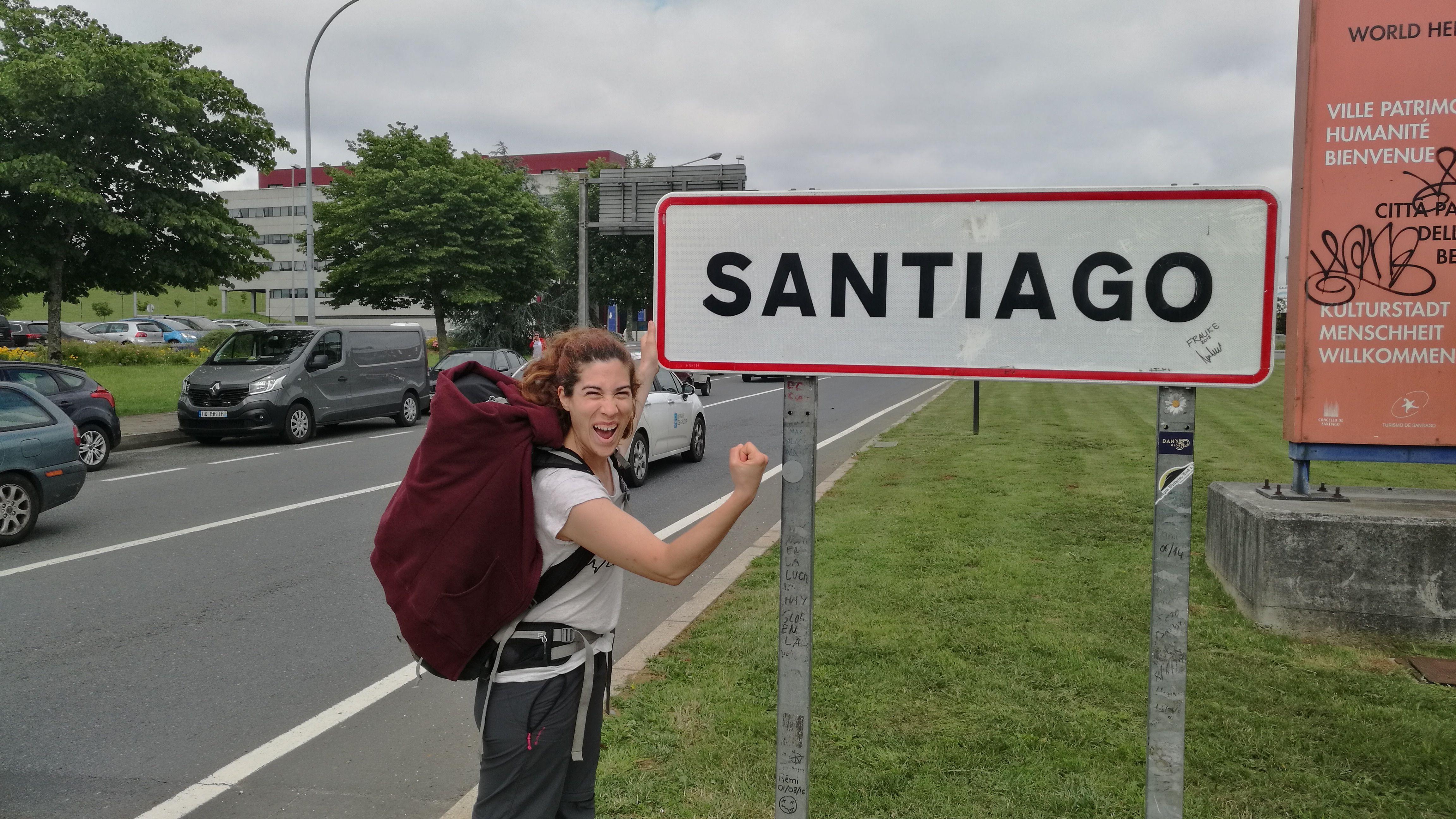Entrando a Santiago