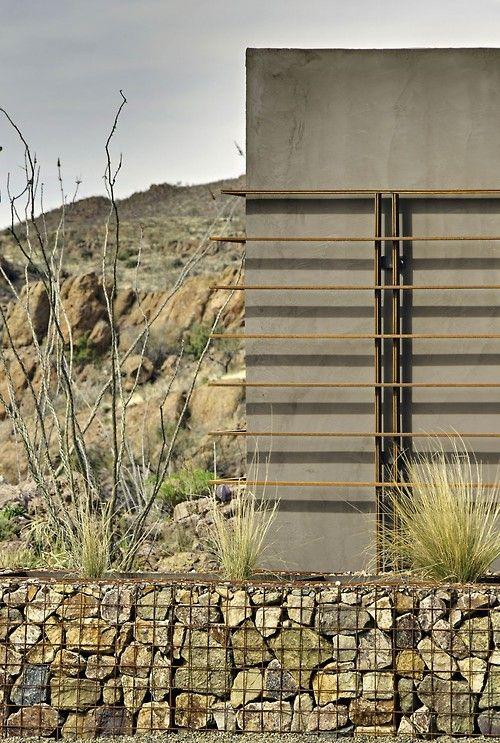 Gabion Wall Modern Landscaping Landscape Walls Residential Landscaping