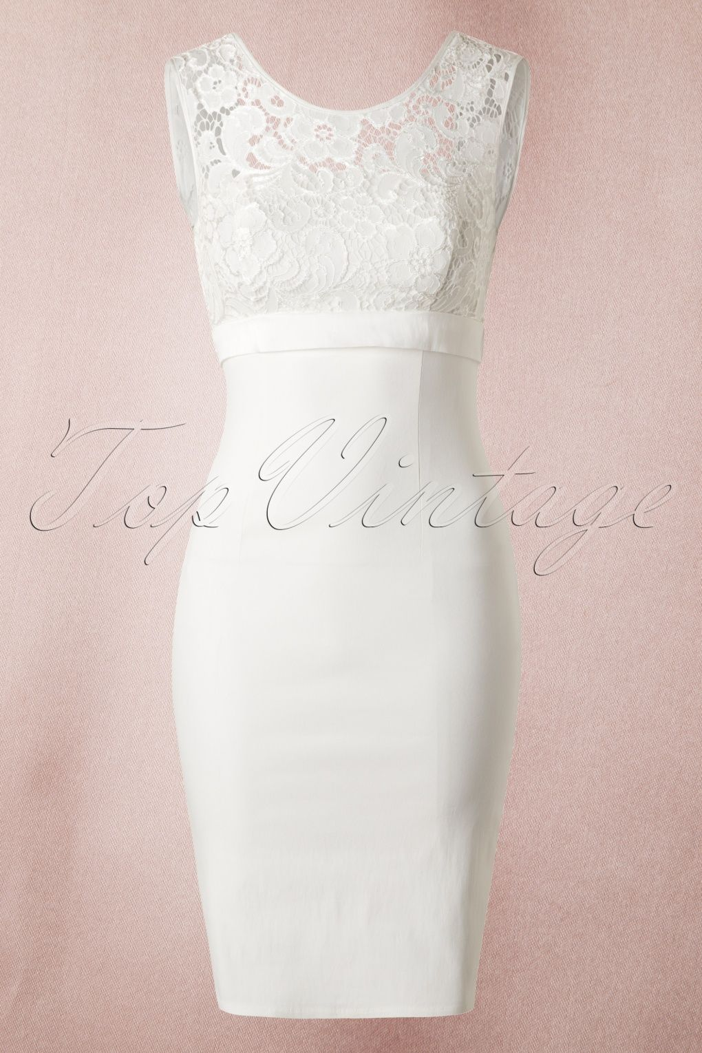 50s White Lace Bow Pencil Dress | Das kleid, Wundervoll und Beauty