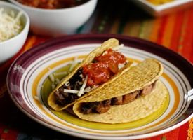 Black Bean and Sausage Tacos: another household staple. I double this recipe, add extra spices, and add frozen corn when it's almost done cooking. This can literally go from stove to tummy in less than 20 minutes.