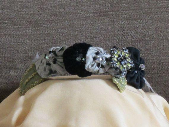 Handmade Black and Grey Beautifully Adorned by nedaoriginals