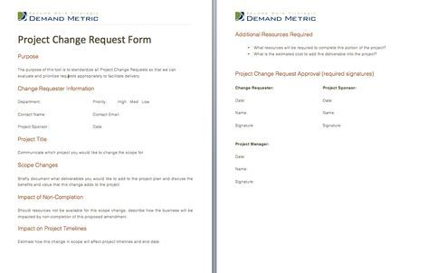 Project Change Request Form  A Form To Approve Project Change