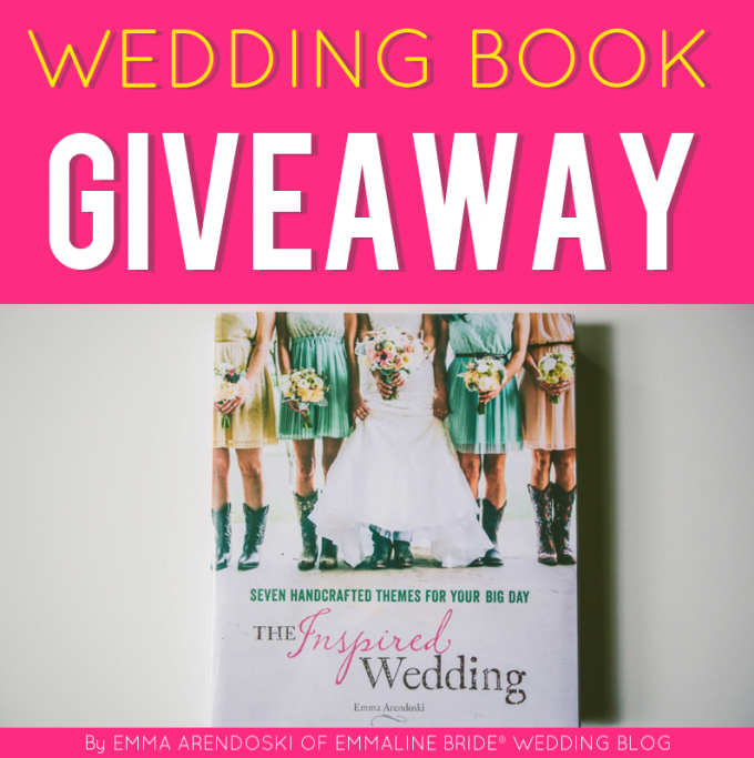 Giveaway Win A Wedding Planning Book Emmaline Bride Wedding Blog Wedding Planning Book Wedding Giveaways Wedding Book