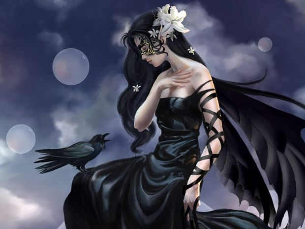 The Dark Queen Dark Angel Wallpaper Fantasy Girl Angel Wallpaper